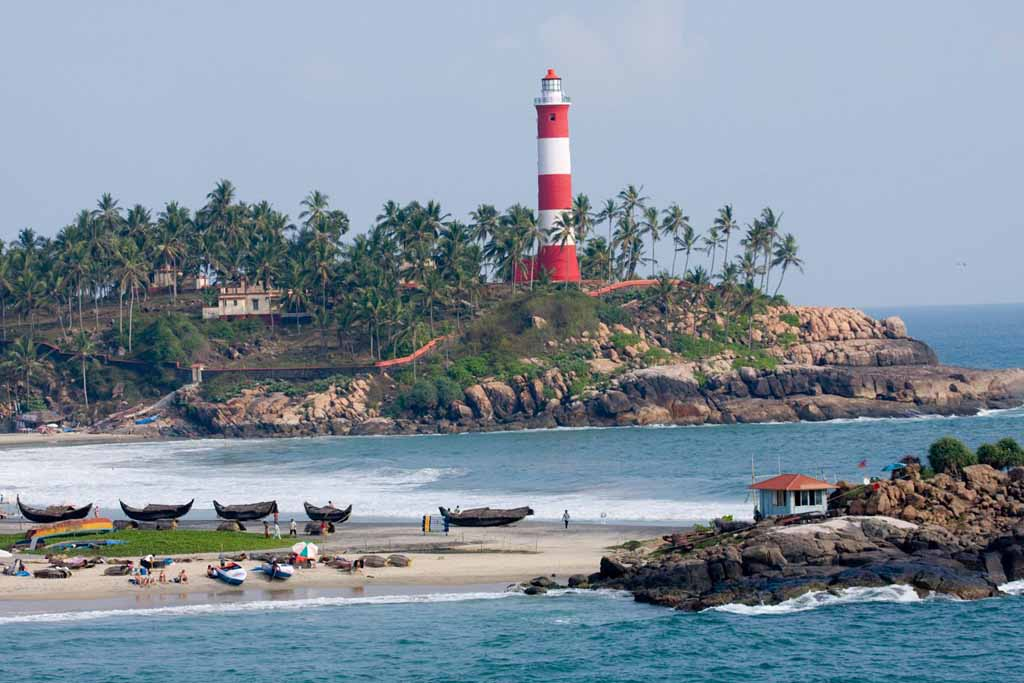 Kovalam Beach   Beaches of India Famous Dolphin Painting